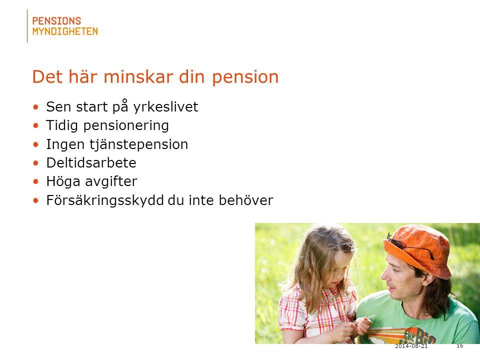 Det här minskar din pension