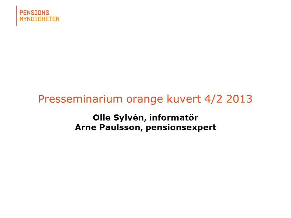 Presseminarium orange kuvert 4/2 2013