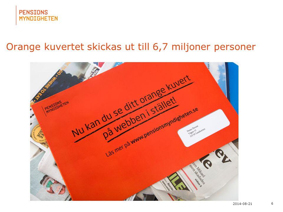 Orange kuvertet skickas ut till 6,7 miljoner personer