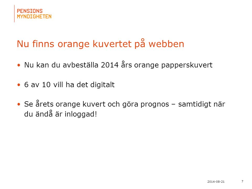 Nu finns orange kuvertet på webben