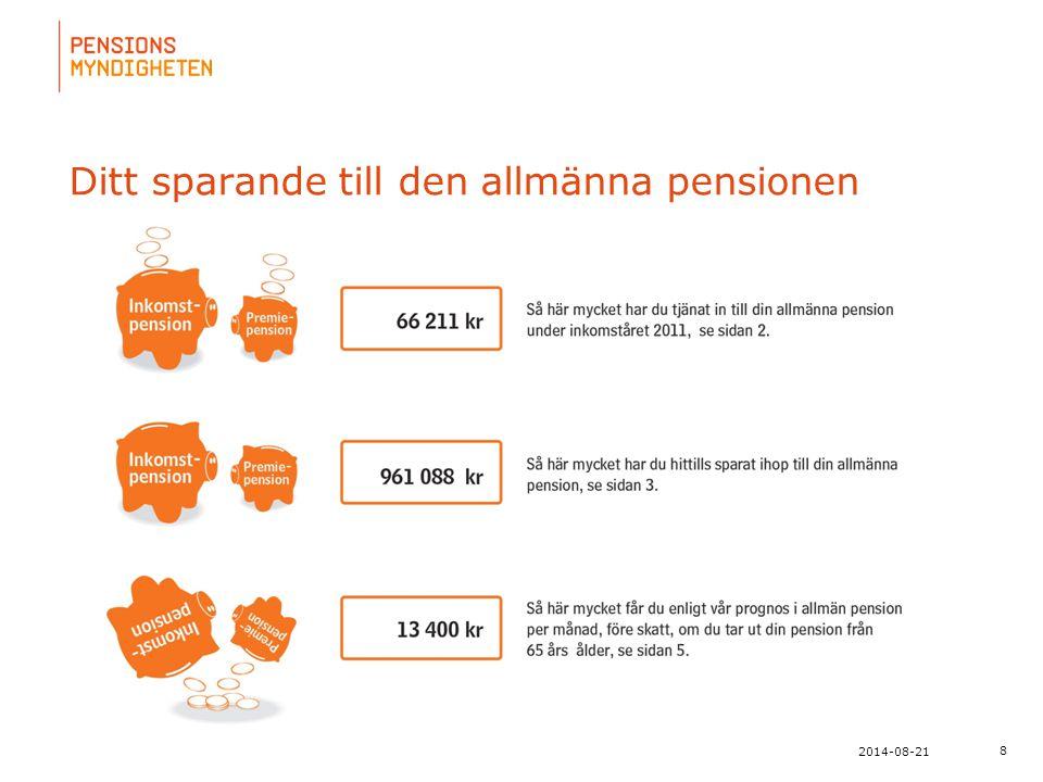 Ditt sparande till den allmänna pensionen