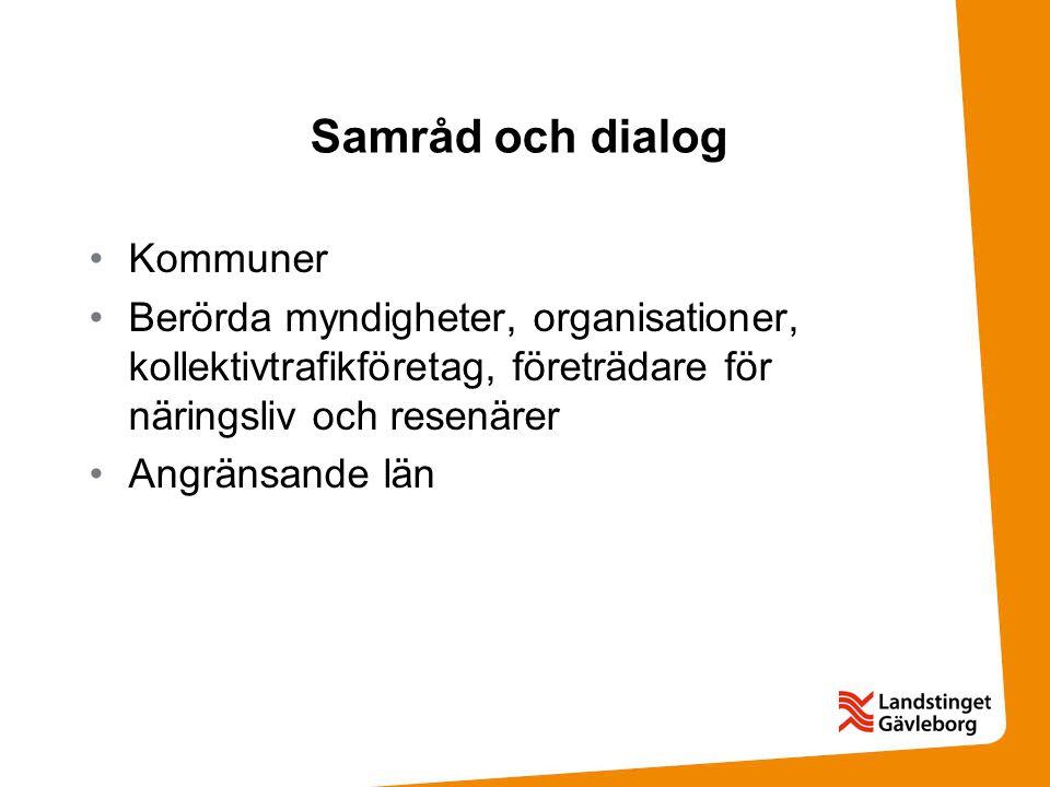 Samråd och dialog Kommuner