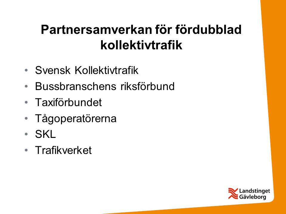 Partnersamverkan för fördubblad kollektivtrafik