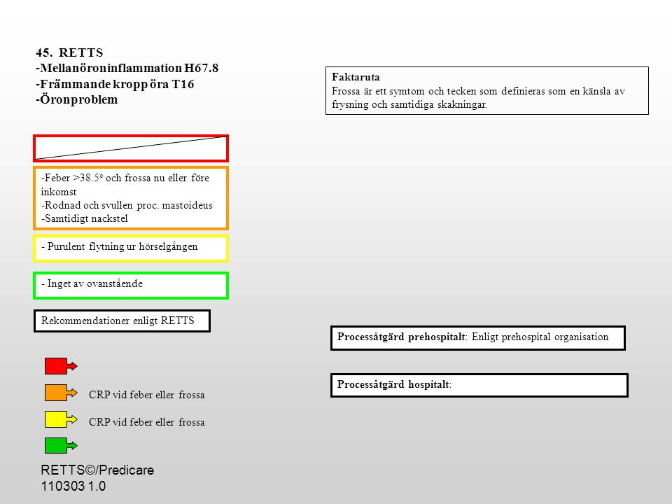 Mellanöroninflammation H67.8 Främmande kropp öra T16 Öronproblem