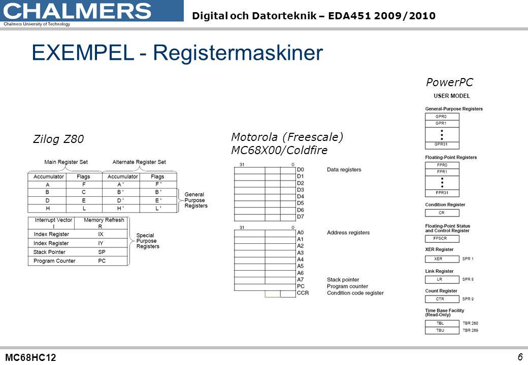 EXEMPEL - Registermaskiner