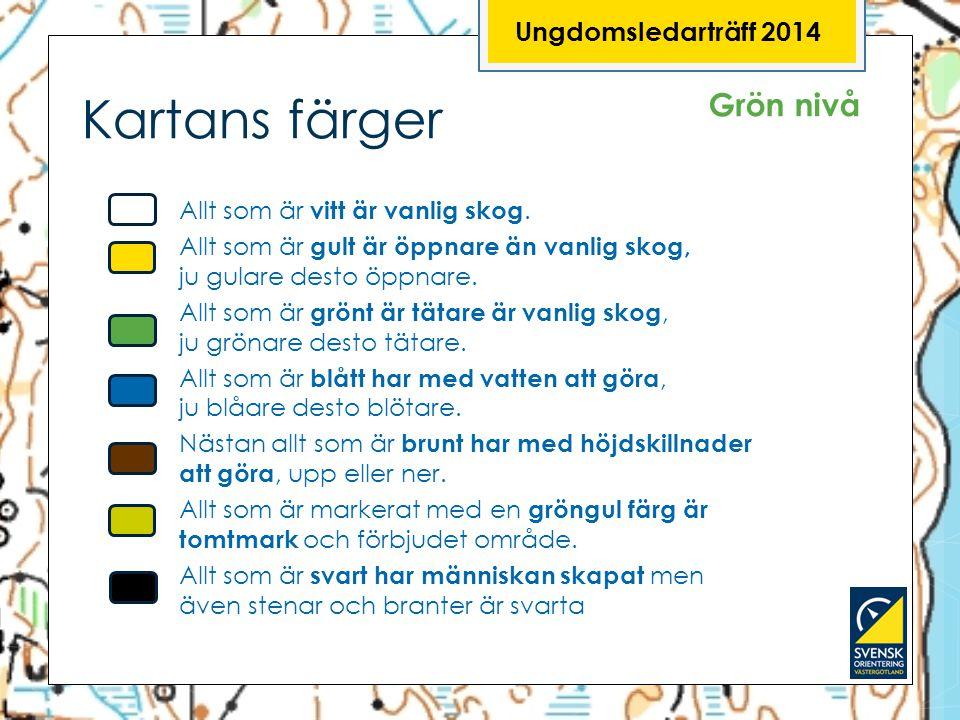 Ungdomsledarträff 2014 Kartans färger. Grön nivå.