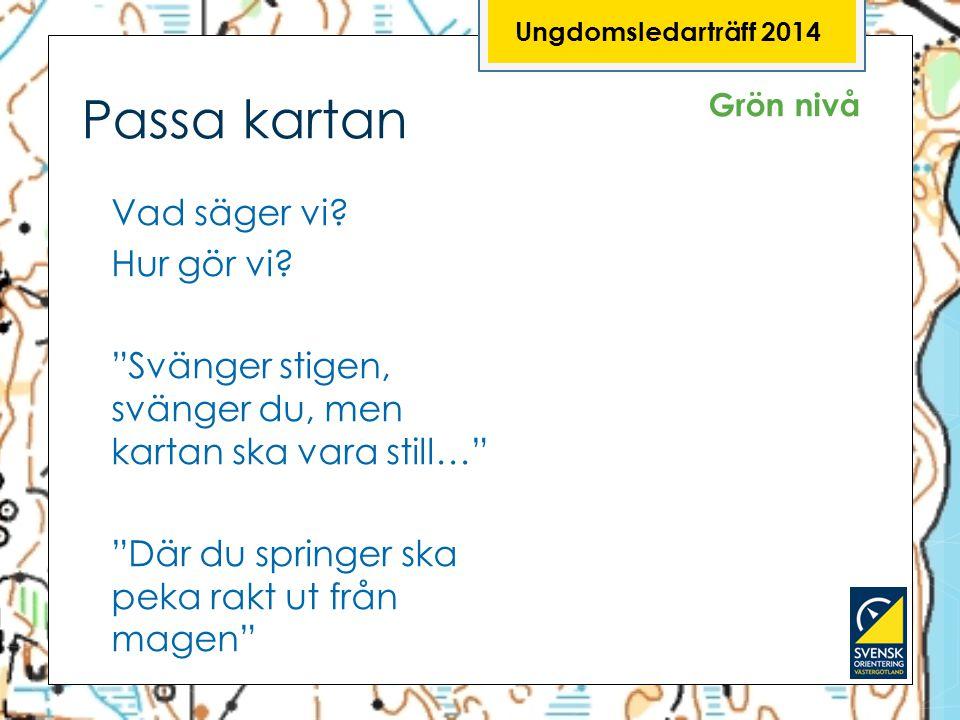 Ungdomsledarträff 2014 Passa kartan. Grön nivå.
