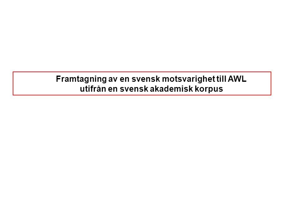 Framtagning av en svensk motsvarighet till AWL