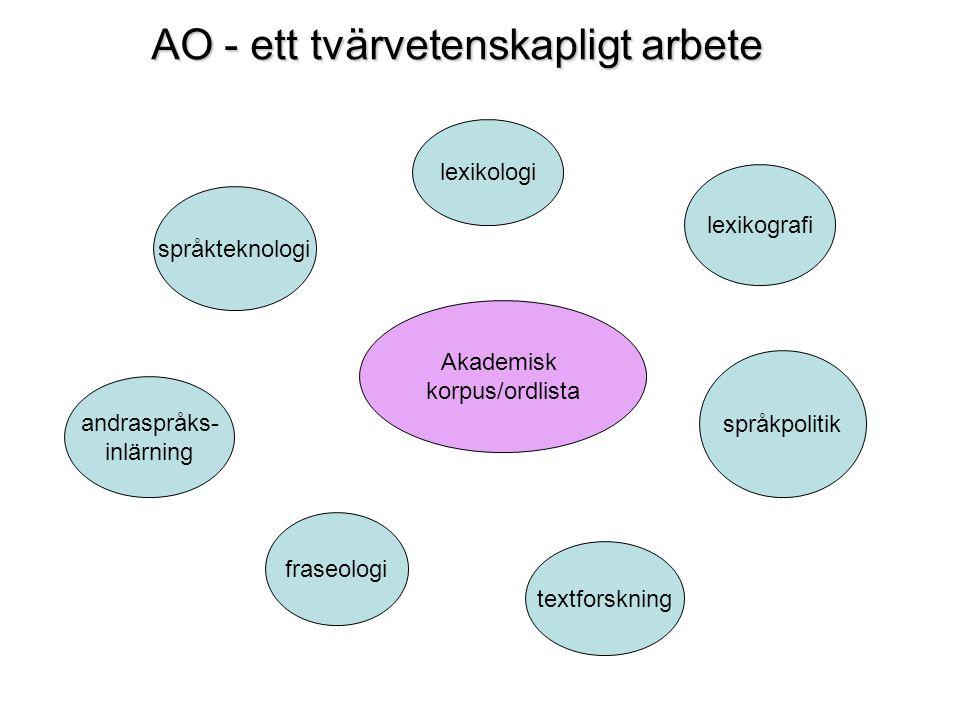 AO - ett tvärvetenskapligt arbete