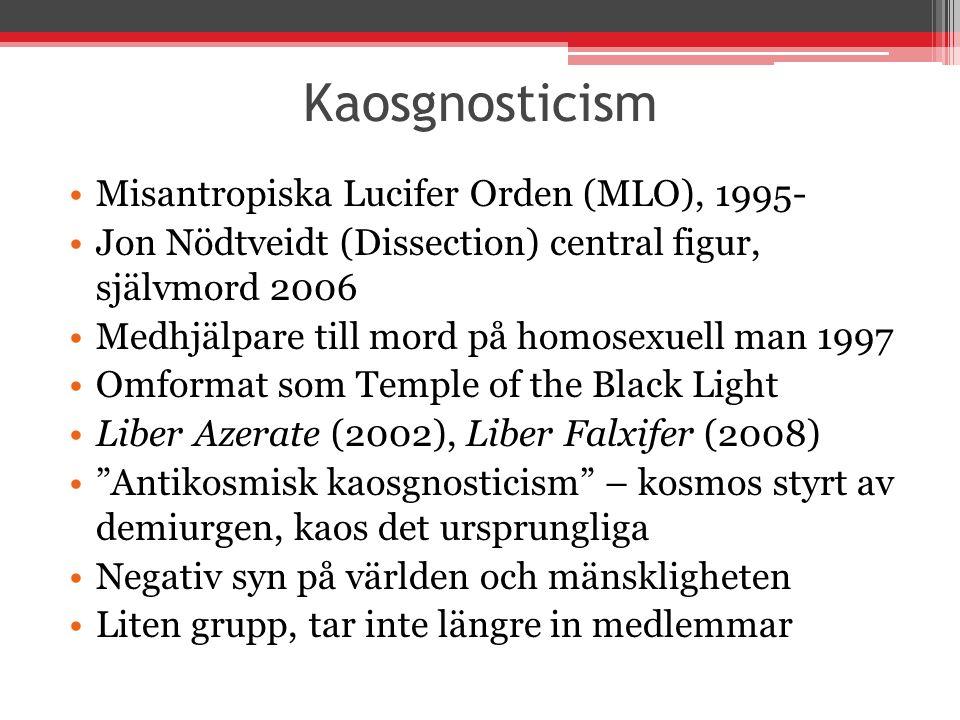 Kaosgnosticism Misantropiska Lucifer Orden (MLO), 1995-