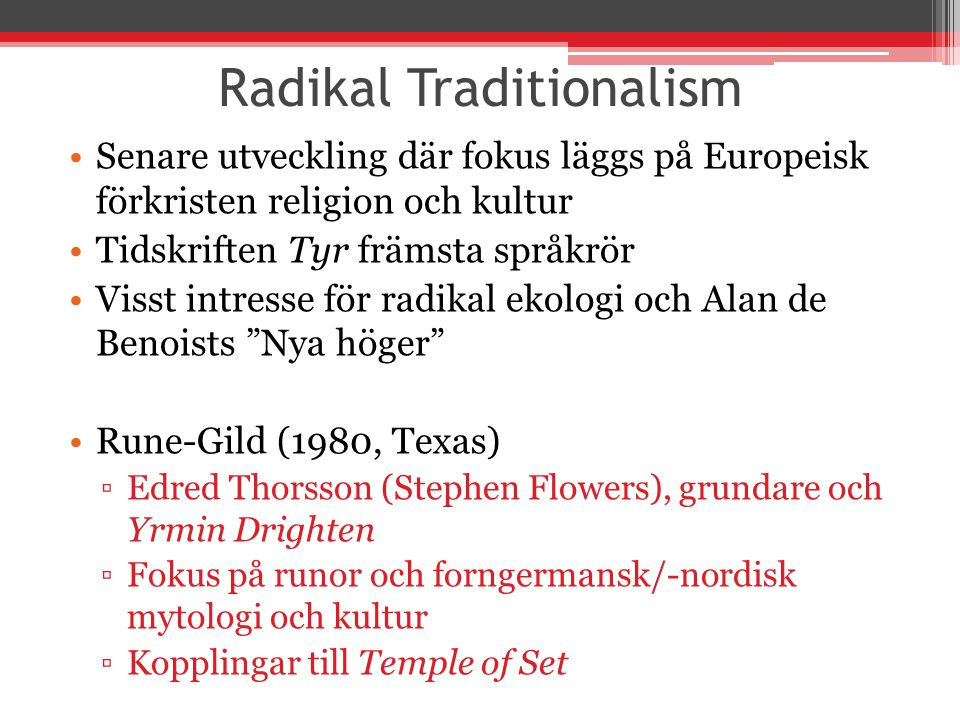 Radikal Traditionalism