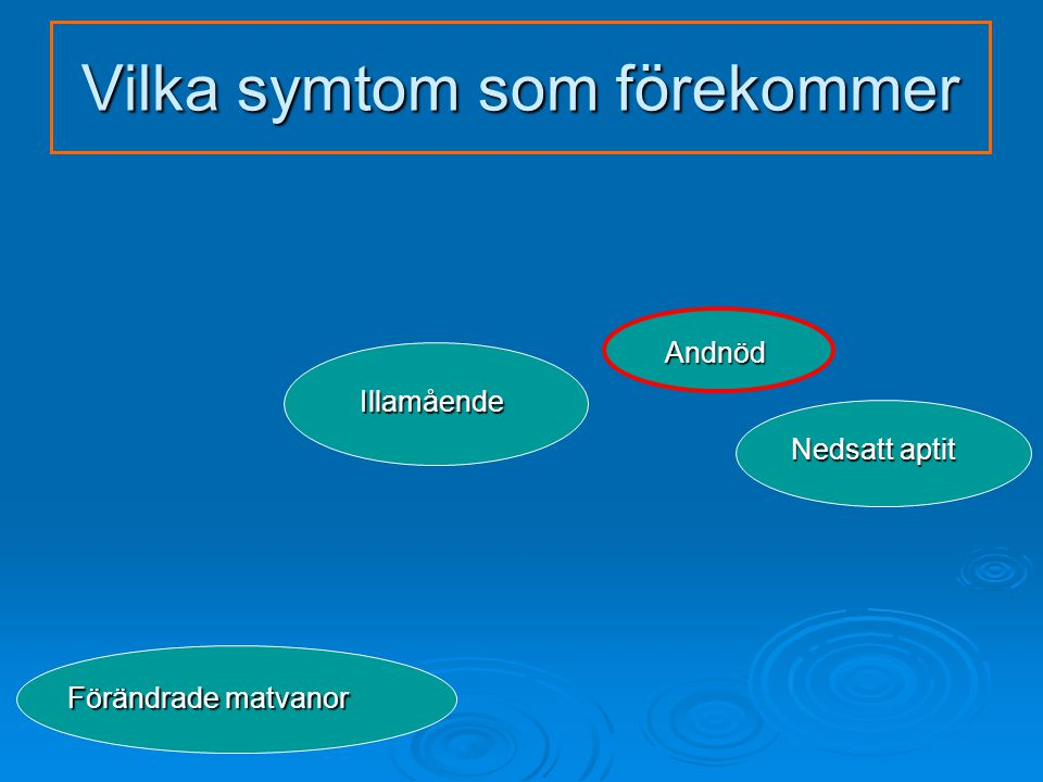 Vilka symtom som förekommer