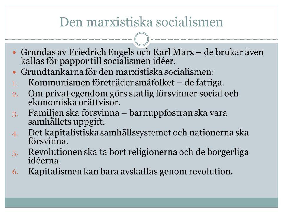 Den marxistiska socialismen
