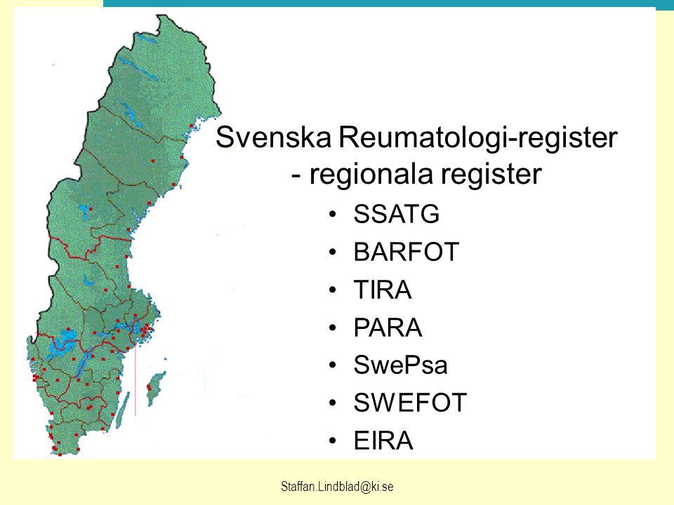 Svenska Reumatologi-register - regionala register
