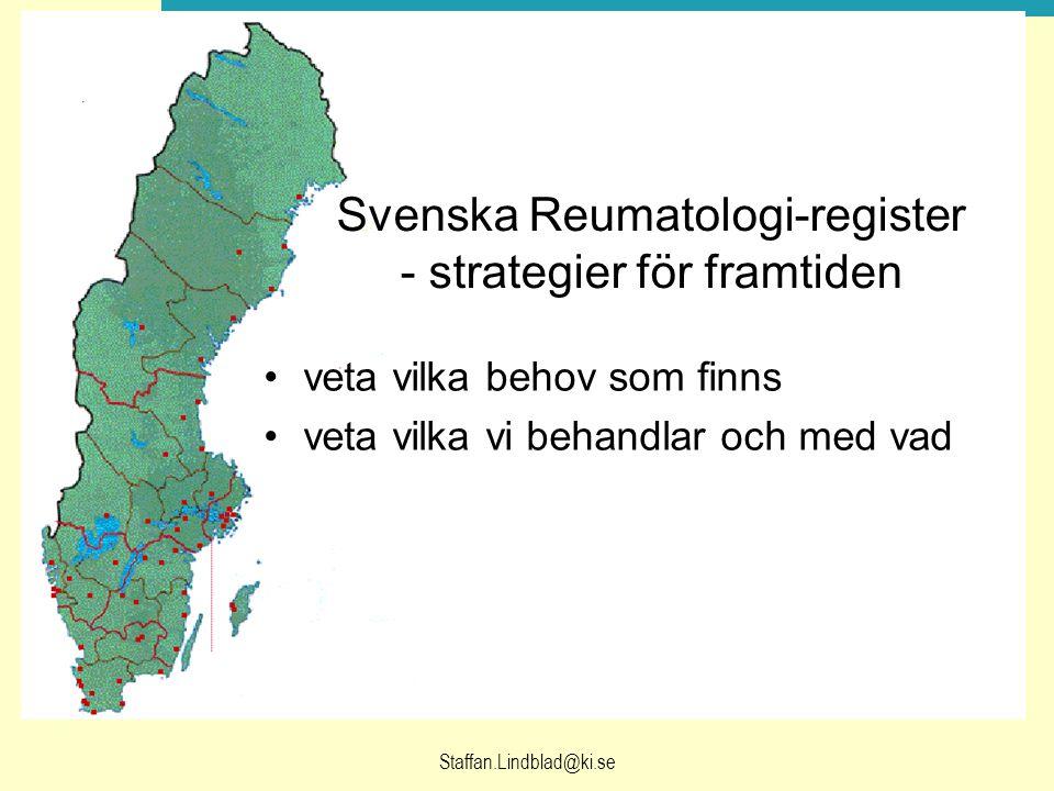 Svenska Reumatologi-register - strategier för framtiden