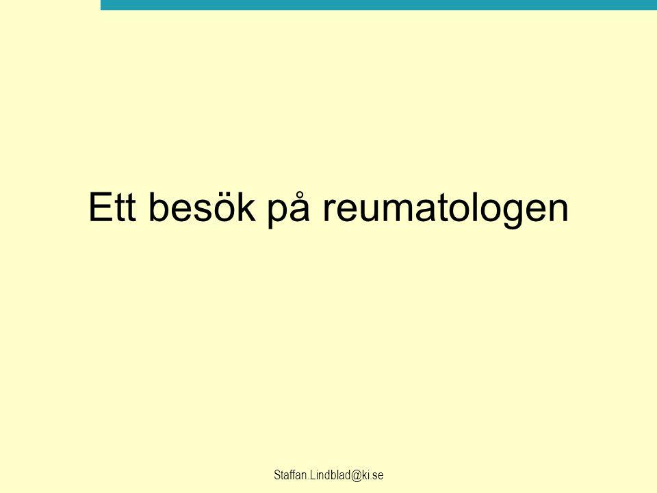 Ett besök på reumatologen