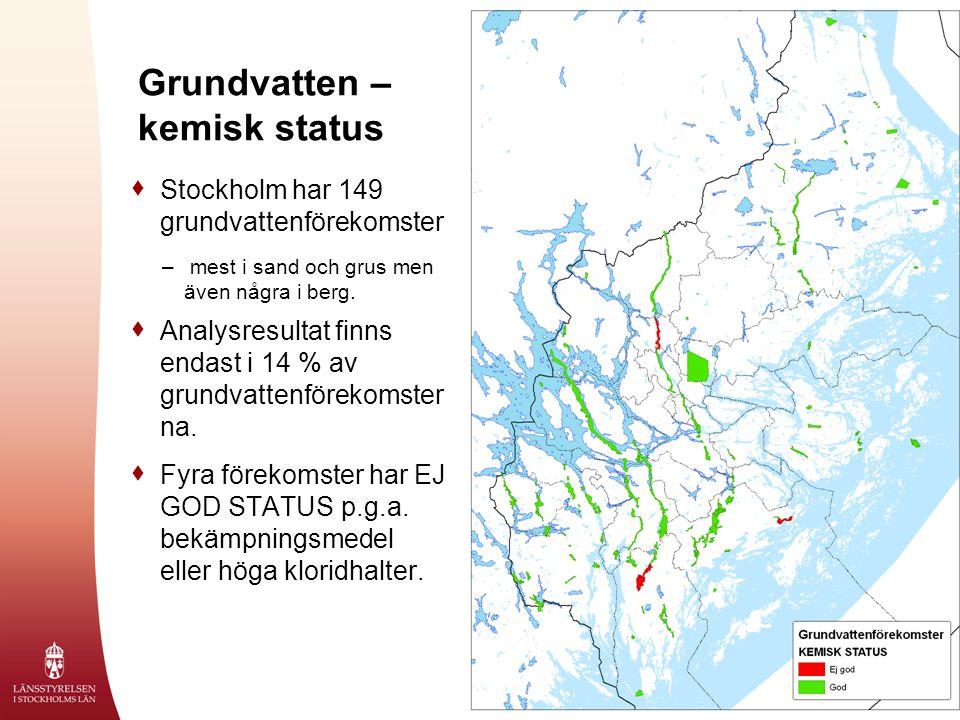 Grundvatten – kemisk status