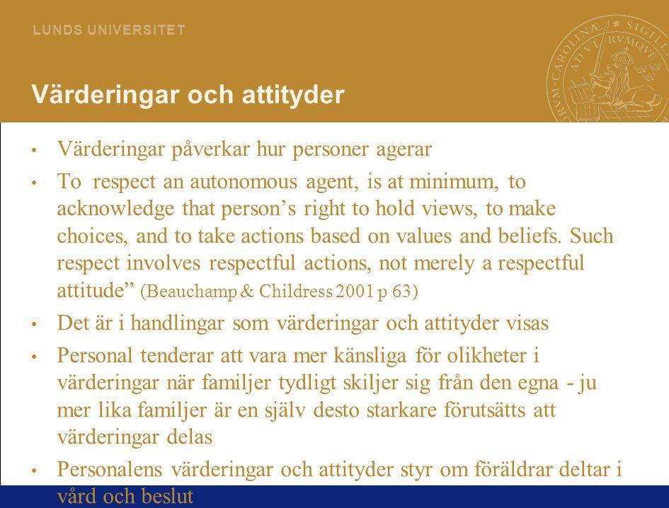 Värderingar och attityder