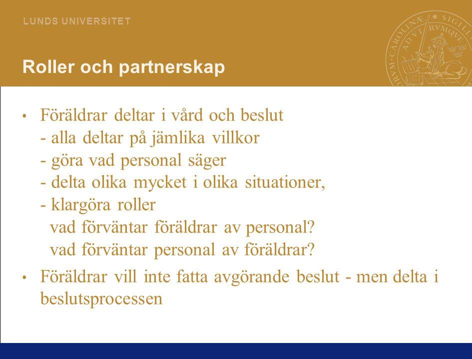 Roller och partnerskap