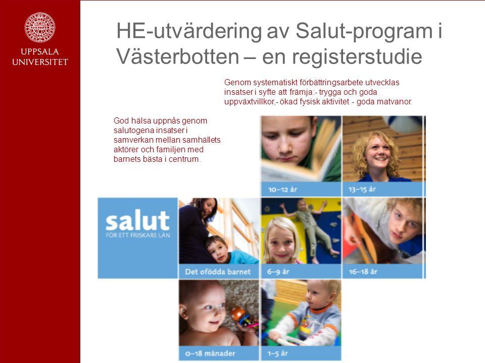 HE-utvärdering av Salut-program i Västerbotten – en registerstudie