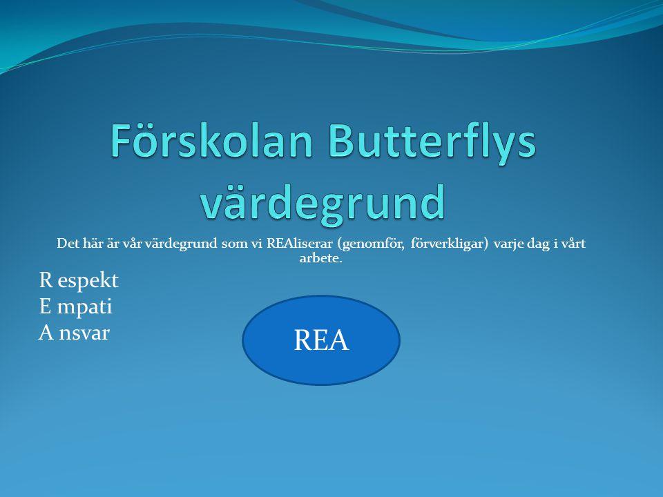 Förskolan Butterflys värdegrund