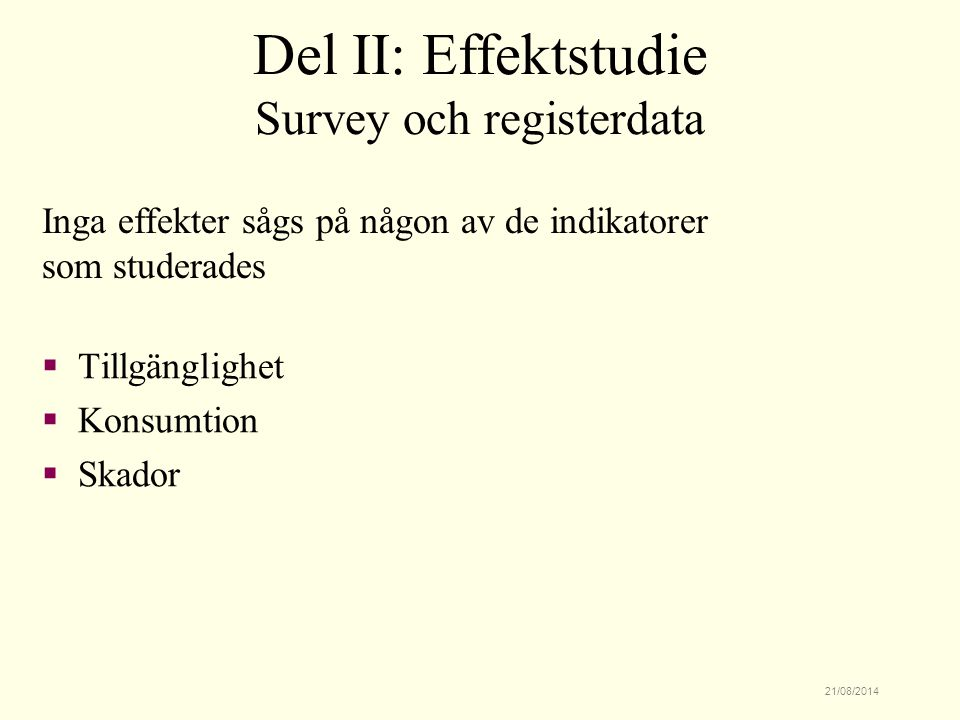 Survey och registerdata