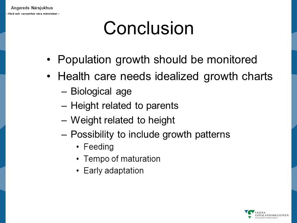Conclusion Population growth should be monitored