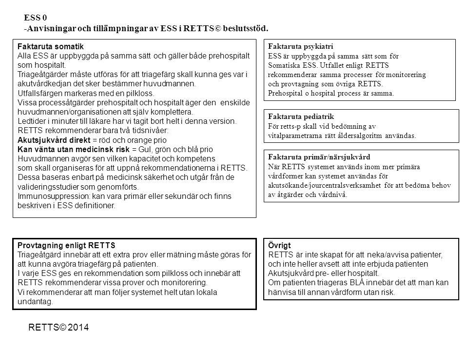 -Anvisningar och tillämpningar av ESS i RETTS© beslutsstöd.