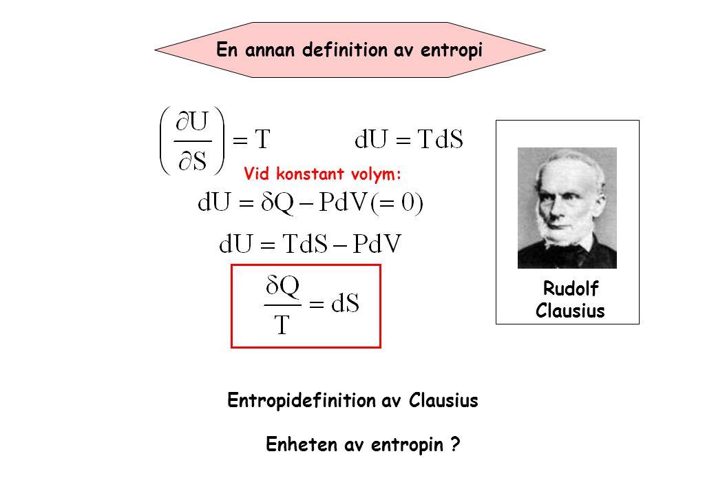 En annan definition av entropi