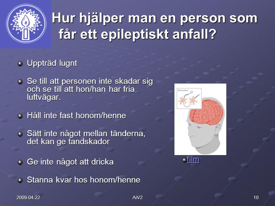 Hur hjälper man en person som får ett epileptiskt anfall