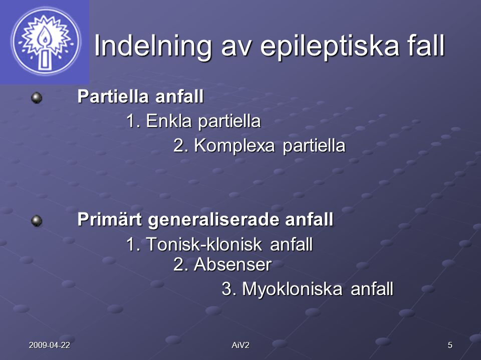 Indelning av epileptiska fall