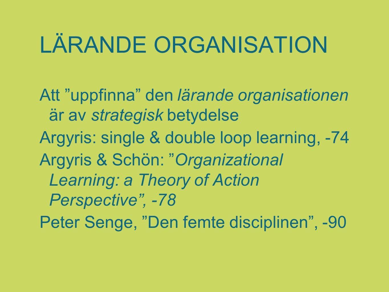LÄRANDE ORGANISATION