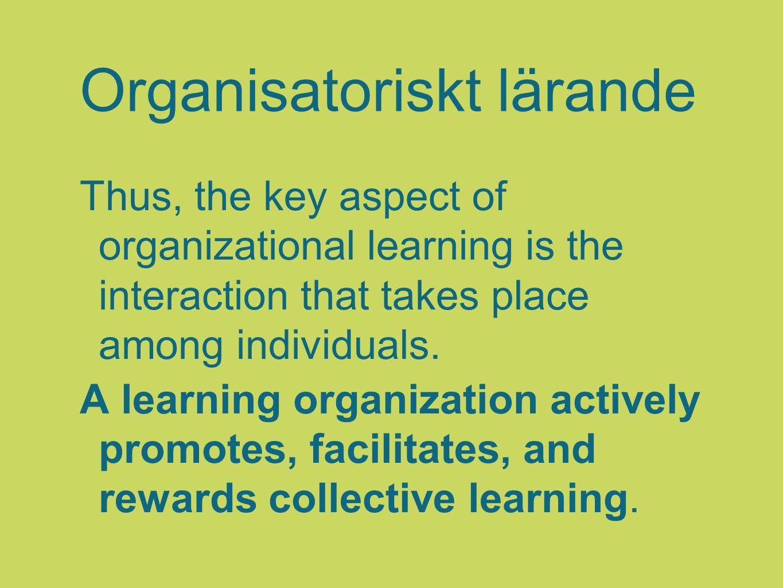 Organisatoriskt lärande