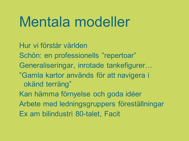 Mentala modeller