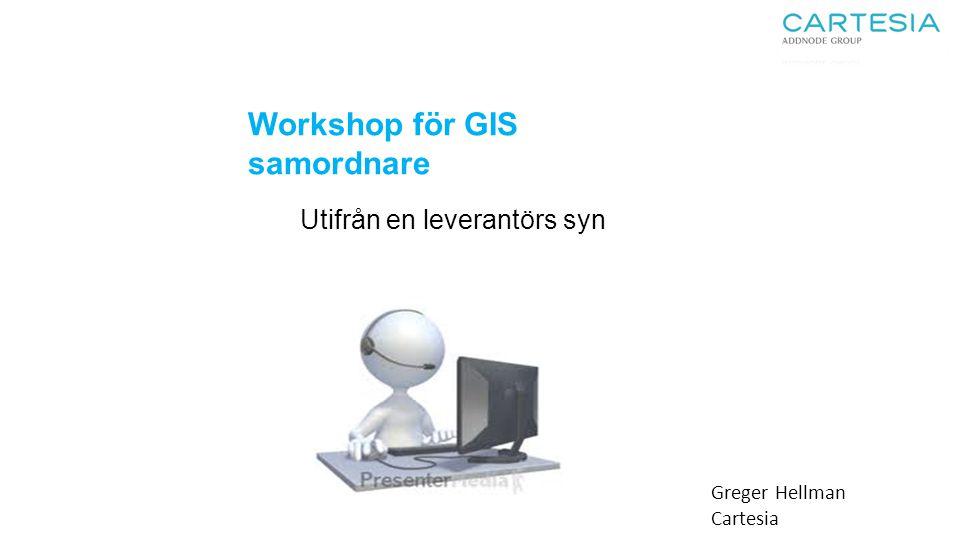 Workshop för GIS samordnare