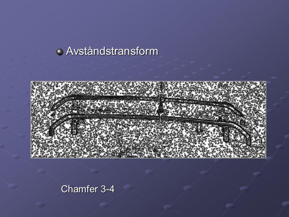 Avståndstransform Chamfer 3-4