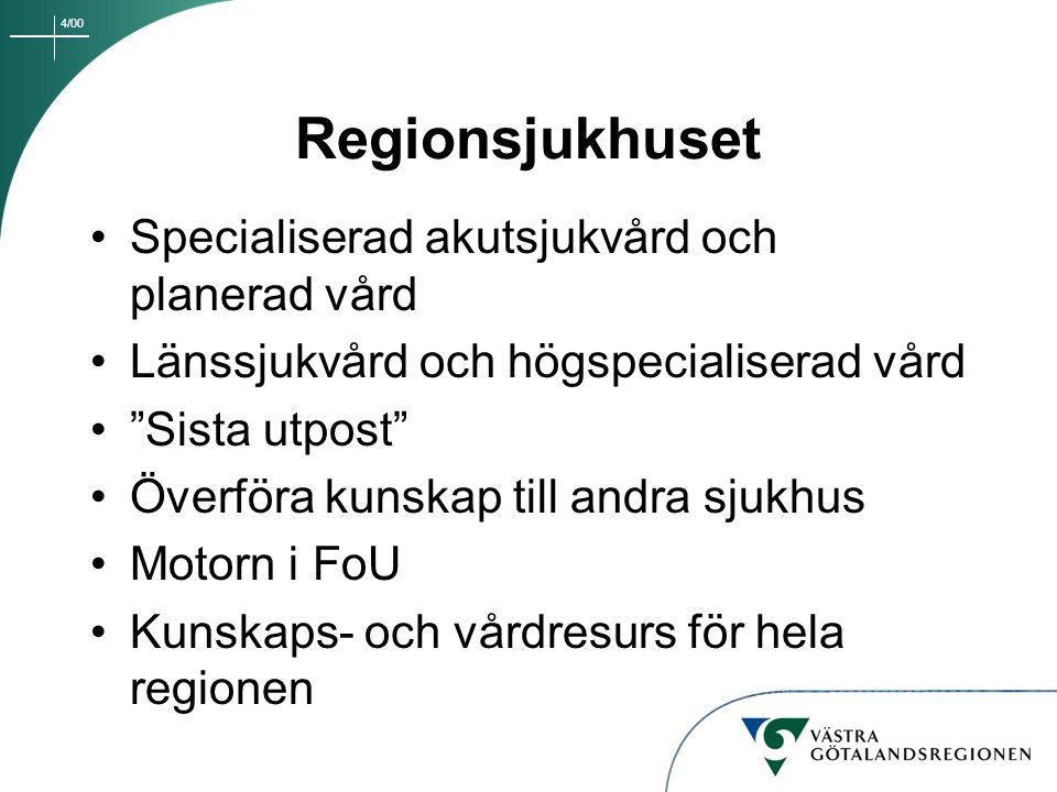 Regionsjukhuset Specialiserad akutsjukvård och planerad vård