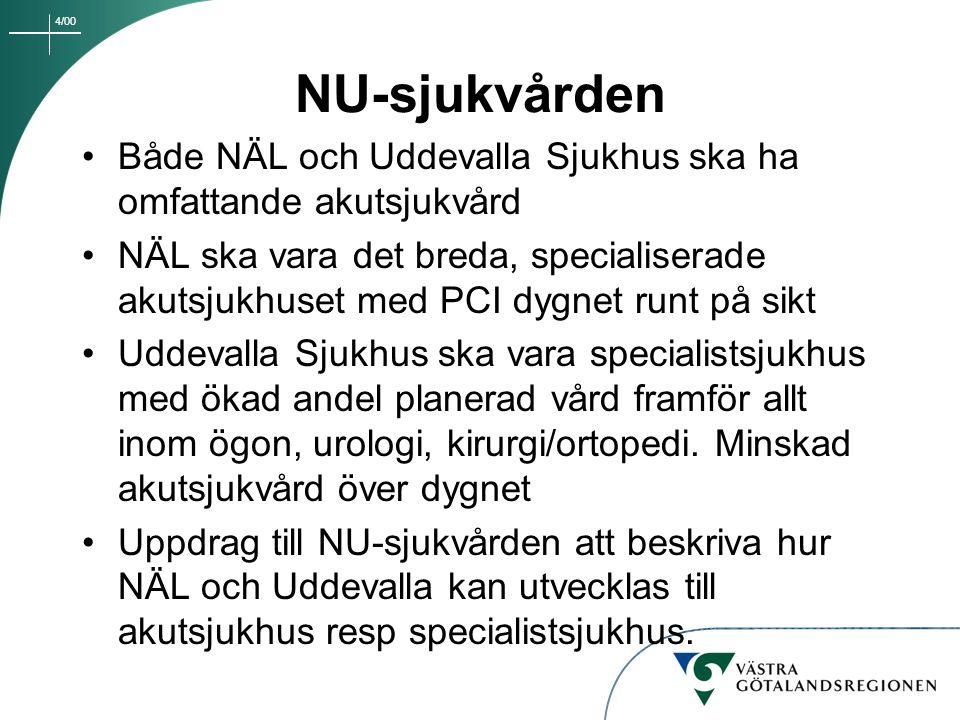 NU-sjukvården Både NÄL och Uddevalla Sjukhus ska ha omfattande akutsjukvård.