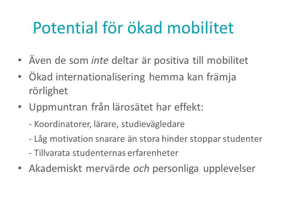 Potential för ökad mobilitet
