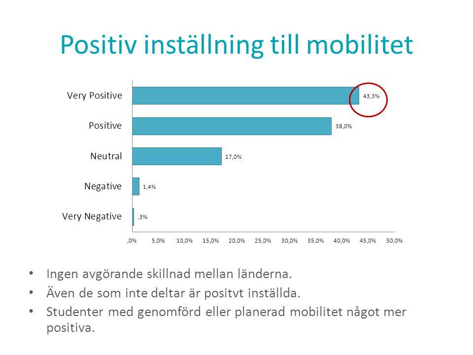 Positiv inställning till mobilitet