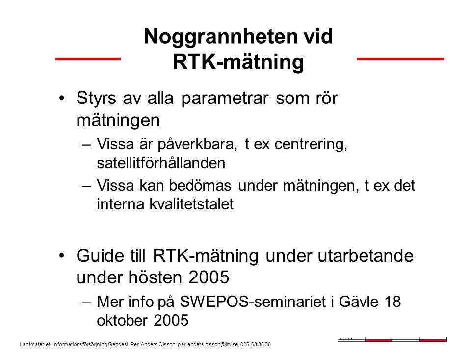 Noggrannheten vid RTK-mätning