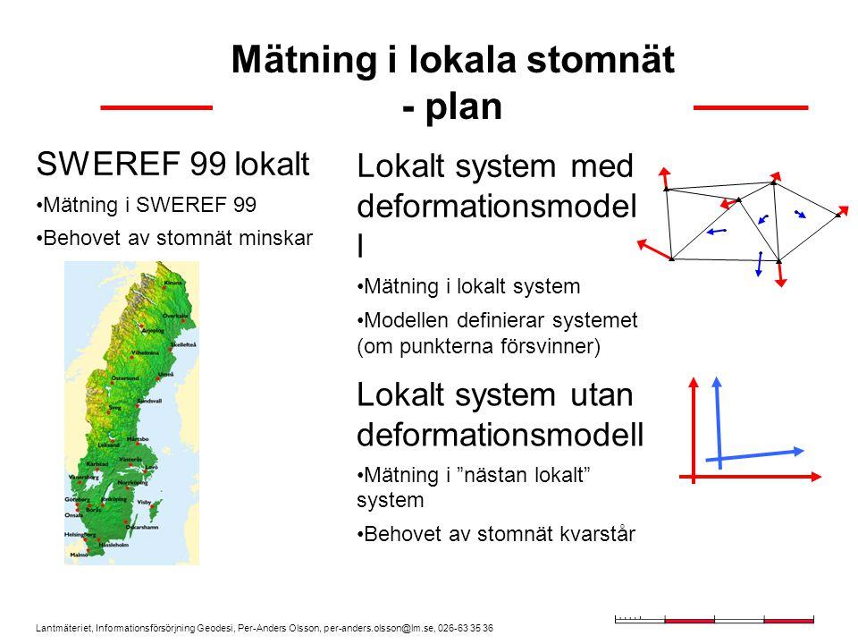 Mätning i lokala stomnät - plan