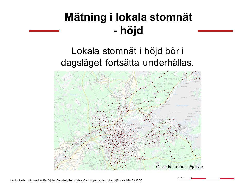 Mätning i lokala stomnät - höjd