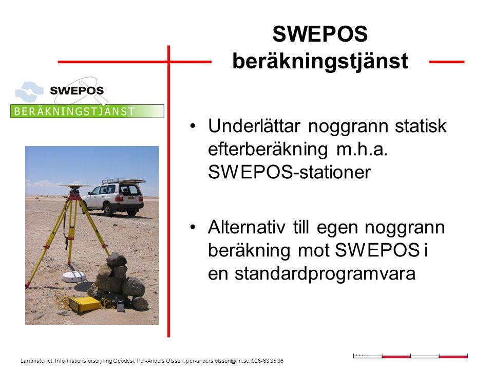 SWEPOS beräkningstjänst