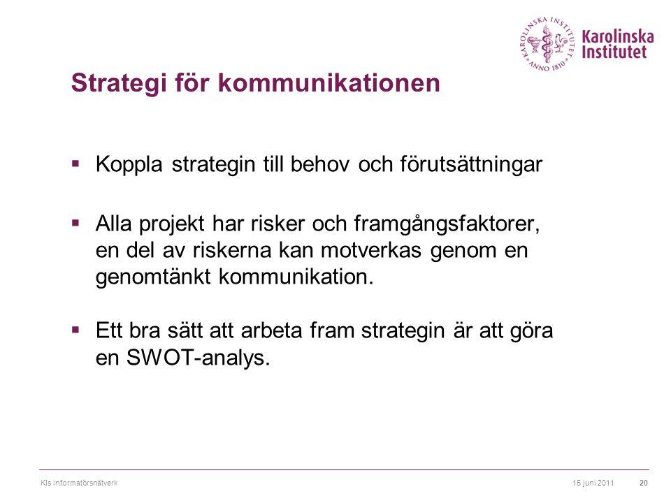 Strategi för kommunikationen