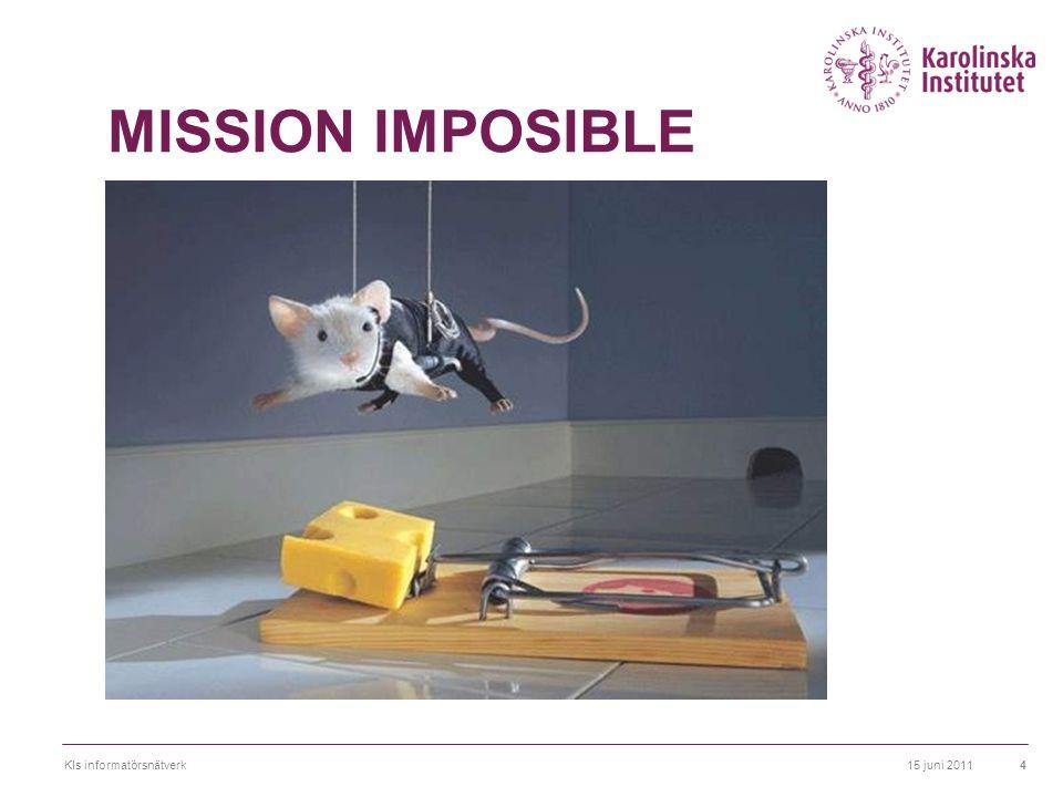 MISSION IMPOSIBLE Ibland kommer vi kommunikatörer in för sent…- någon har hittat på något som de vill kommunicera men som inte är kommunicerbart.