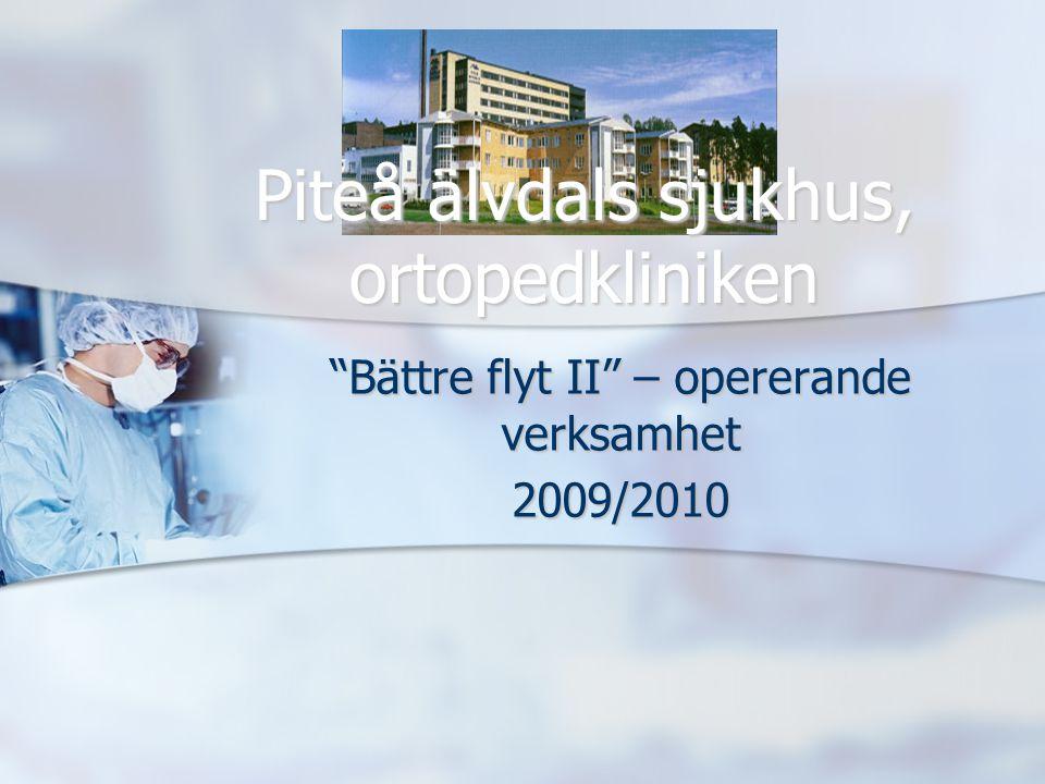 Bättre flyt II – opererande verksamhet 2009/2010