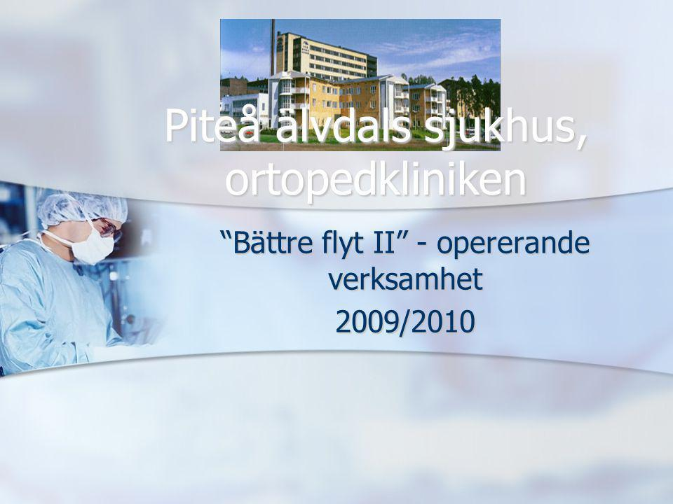 Bättre flyt II - opererande verksamhet 2009/2010