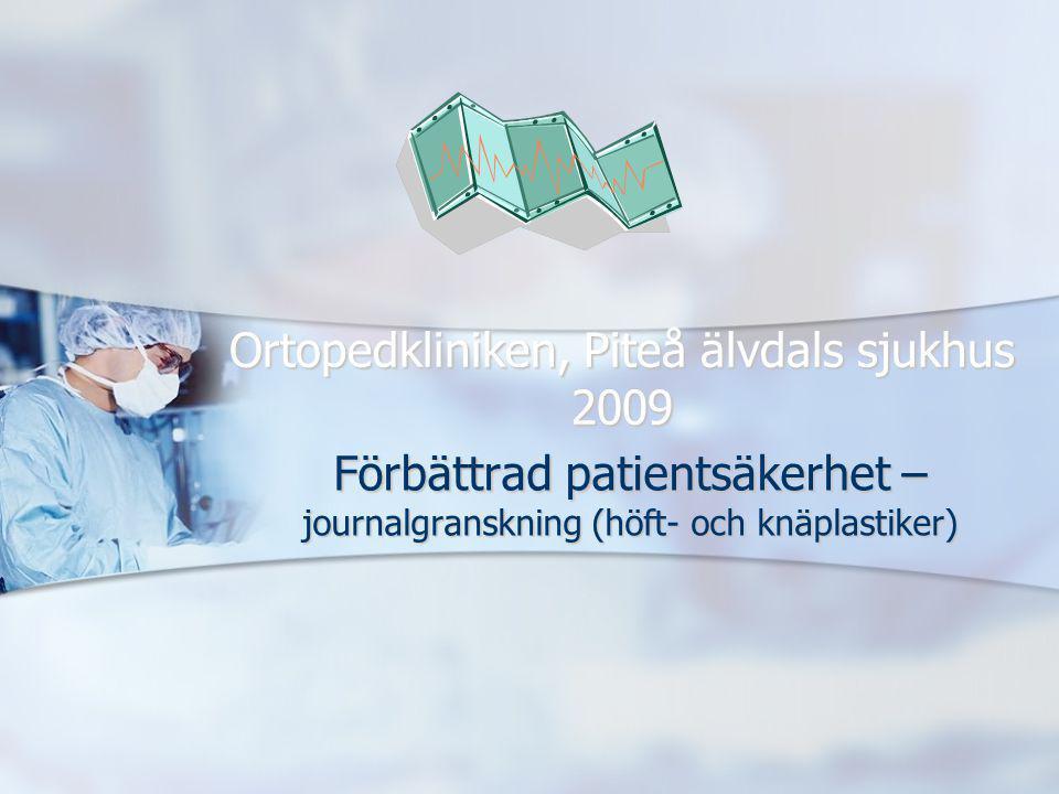 Ortopedkliniken, Piteå älvdals sjukhus 2009