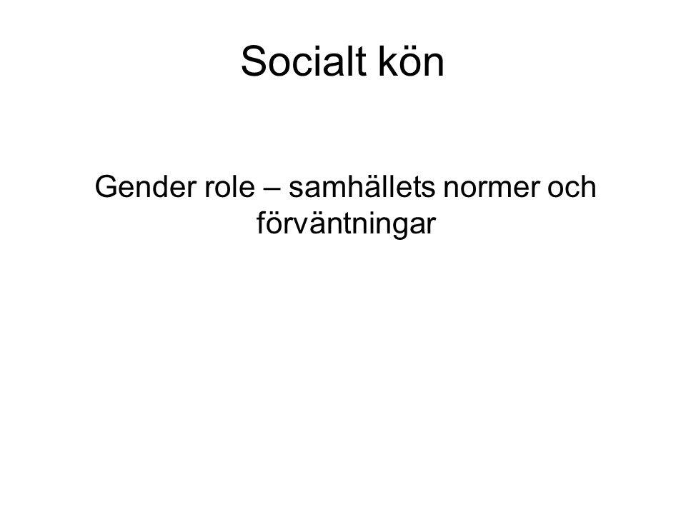 Gender role – samhällets normer och förväntningar